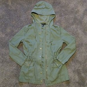 Army Green Forever 21 Hooded Utility Jacket